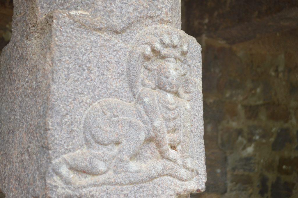 Nice Stone carving on salamandapam pillars